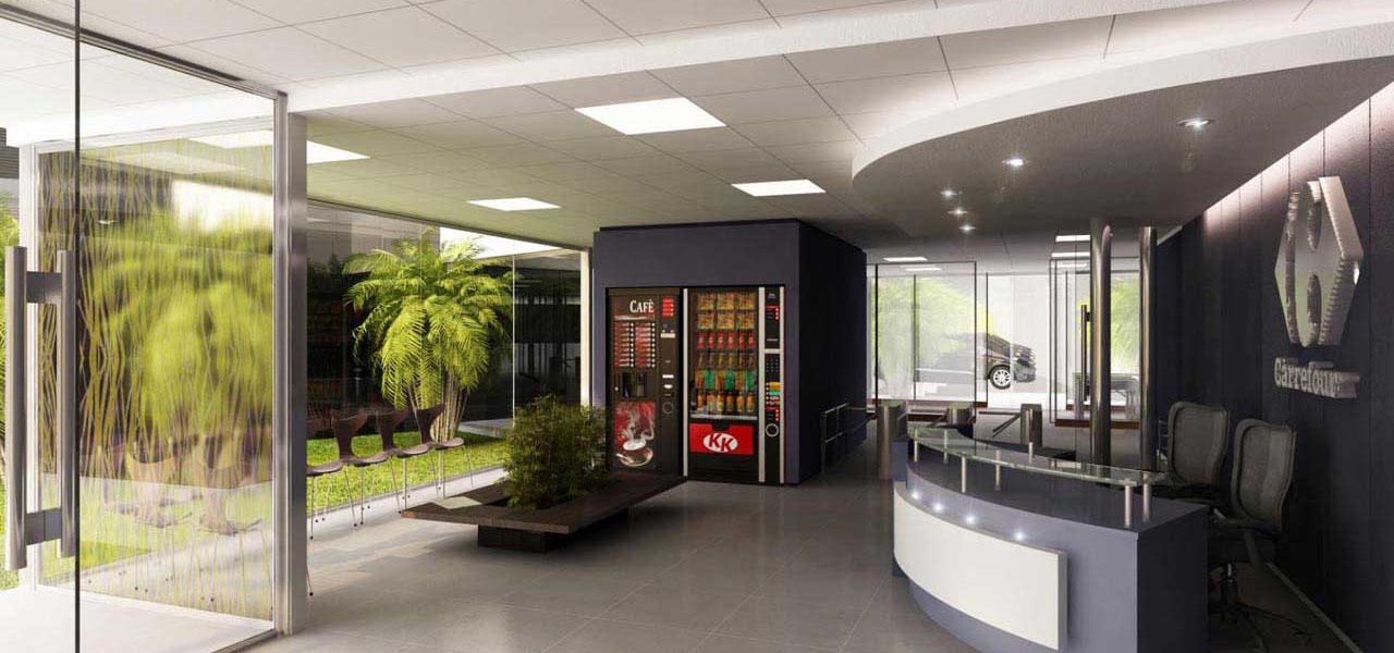 Passo producciones for Diseno oficinas industriales
